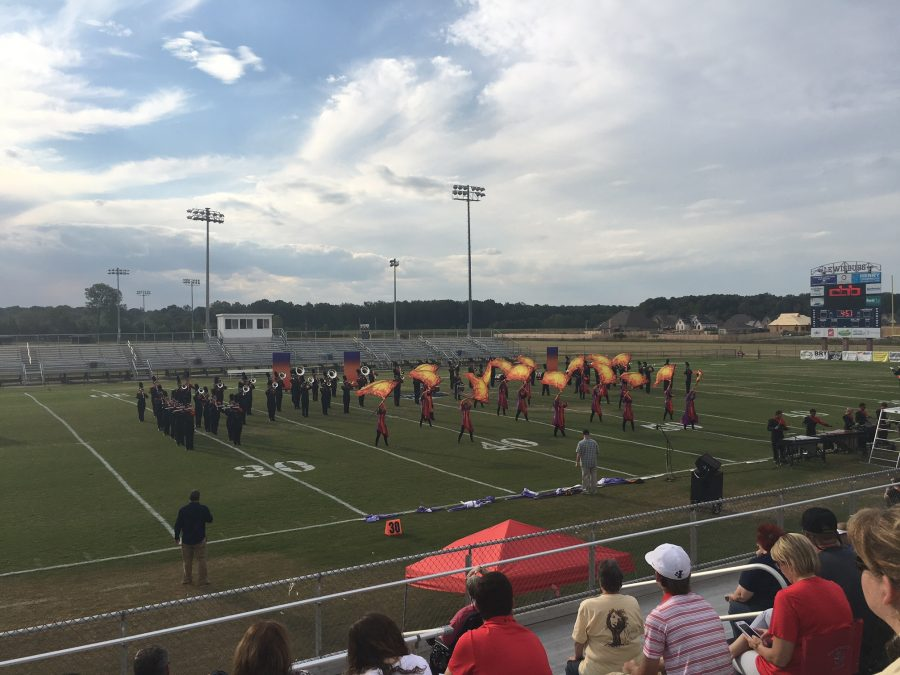 The Center Hill High School Band and Color Guards halftime and competition show is called Message from Mars.
