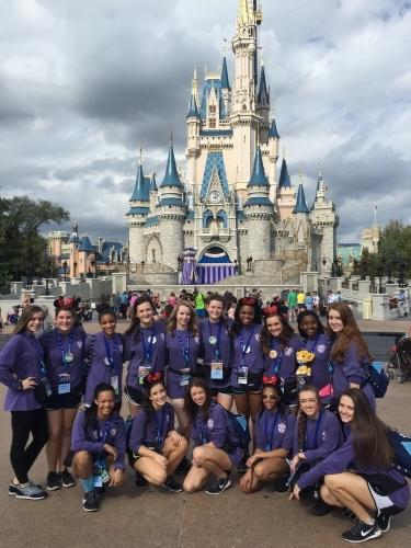 Last year's CHHS dance team poses in front of Cinderella's Castle at Disney World's Magic Kingdom.