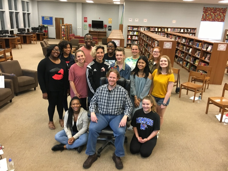 RJ Morgan, director of the Mississippi Scholastic Press Association, was the featured speaker at the student newspaper retreat June 23.