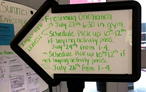 Freshman orientation, schedule pick ups announced