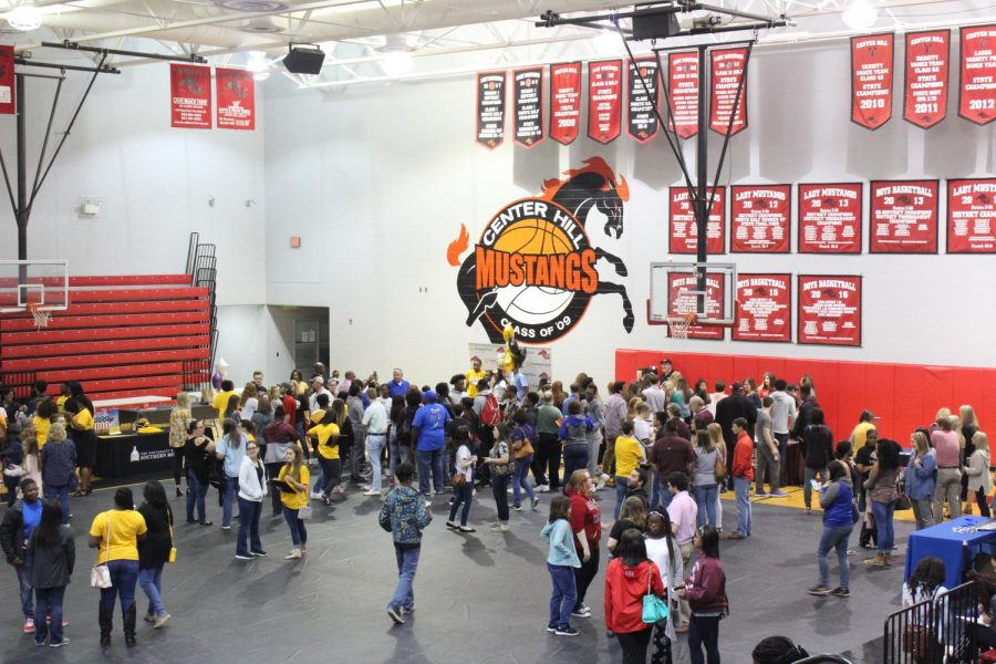 Thirty colleges were represented at Center Hill High School's College Signing Day April 30.