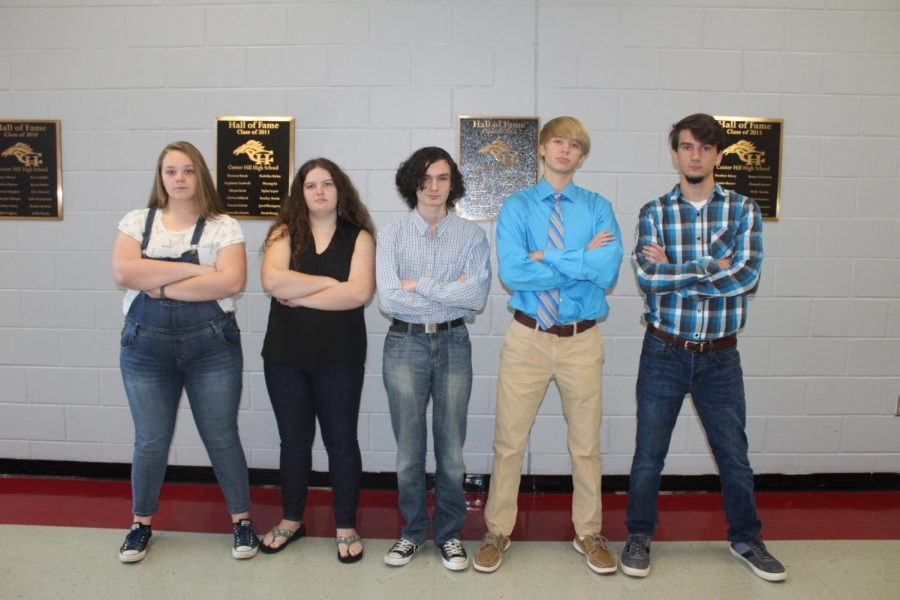 As the top scorers on the PSAT, Mary Lindsey, from left, Zoe Kinggard, Sebastian Askew, Jonathan Greganti and Adam Heath are National Merit Semifinalists from Center Hill High School.