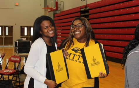 After they graduate from Center Hill High School, seniors Gabbie Collins and Nuriel Perkins will attend the University of Southern Mississippi.