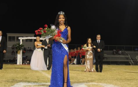 Kennedi Evans was crowned Homecoming Queen during halftime of the  game against Douglass High School Sept. 13.