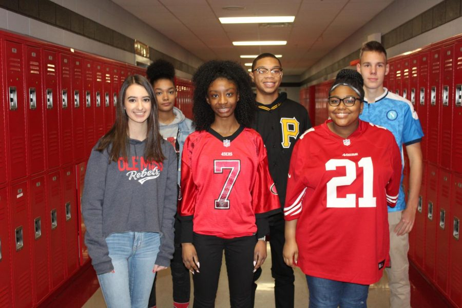 Thursday during Winterfest was Game Wars dress-up day. Students who participated included, front from left, sophomore, Olivia Colleta, sophomore Paris Wilson and junior Kailyn Askew. Back row from left are junior Lauren Gregory, sophomore Monquette Oliver and sophomore Kuba Maszkiewicz.
