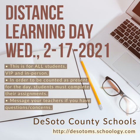 Distance Learning Day Wednesday, 2-17-2021